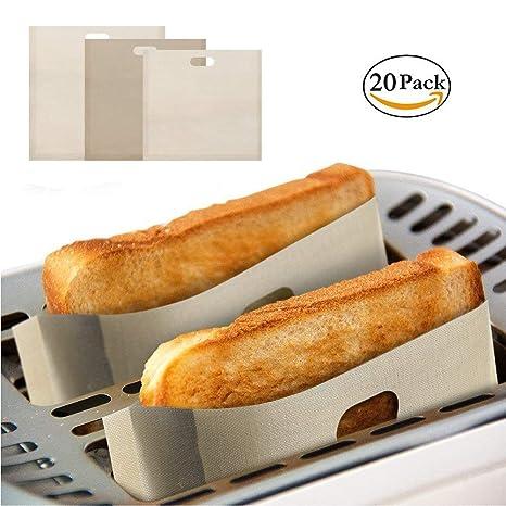 Amazon.com: Bolsas de tostadora reutilizables antiadherentes ...