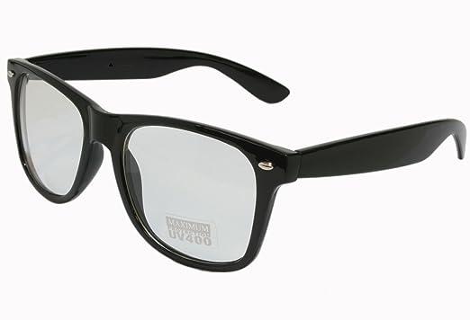wayfarers glasses alui  G&G Nerd Glasses Buddy Classic Black Frame Clear Lens