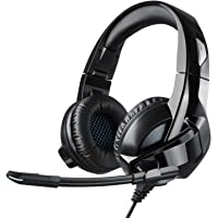 Cocopa Casque Gaming, Casque Gamer Filaire Micro PS4/PSP Xbox 1 PC Jeux Vidéo Casque Pliable Anti Bruit Audio Surround Stéréo Contrôle Volume Microphone Intégré Laptop Windows Mac