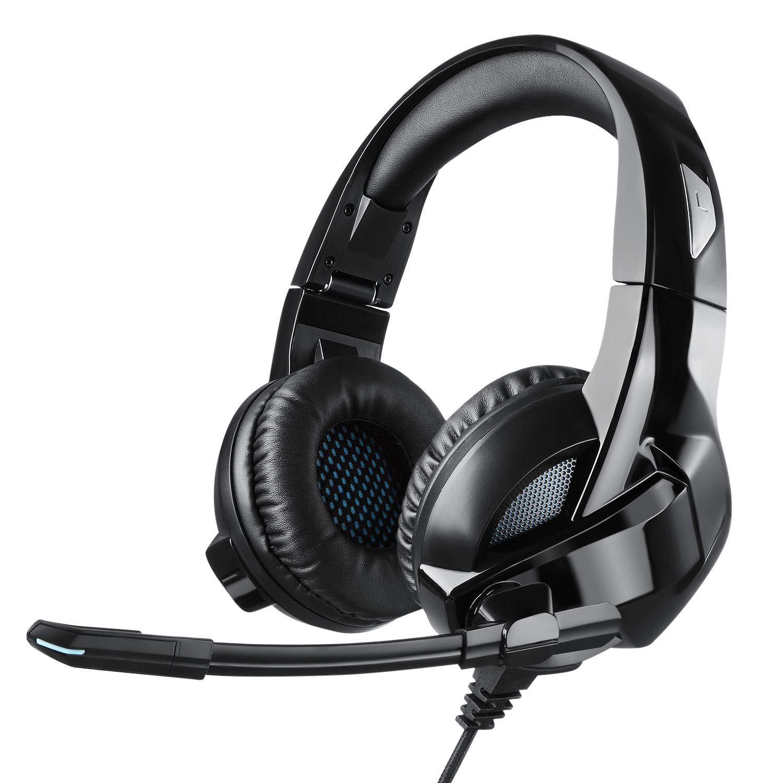 Cocopa Casque Gaming, Casque Gamer Filaire Micro PS4 PSP Xbox 1 PC Jeux  Vidéo Casque Pliable Anti Bruit Audio Surround Stéréo Contrôle Volume  Microphone ... e3e83361b301