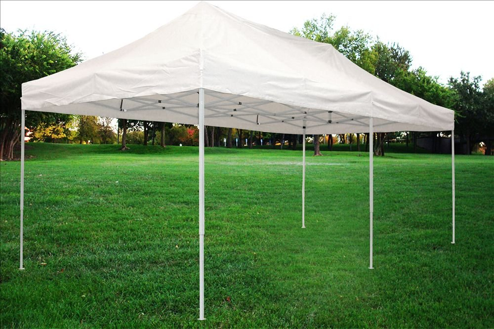 10'x20' Pop up 6 Wall Canopy Party Tent Gazebo Ez White - F Model Upgraded Frame By DELTA Canopies by DELTA Canopies (Image #4)