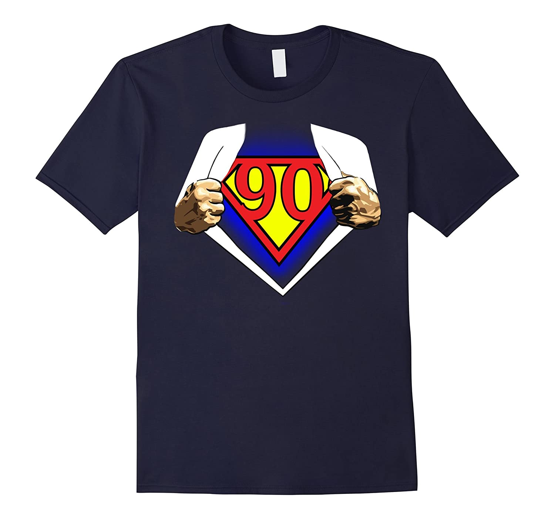 90th Birthday Super Hero Mens Shirt-BN