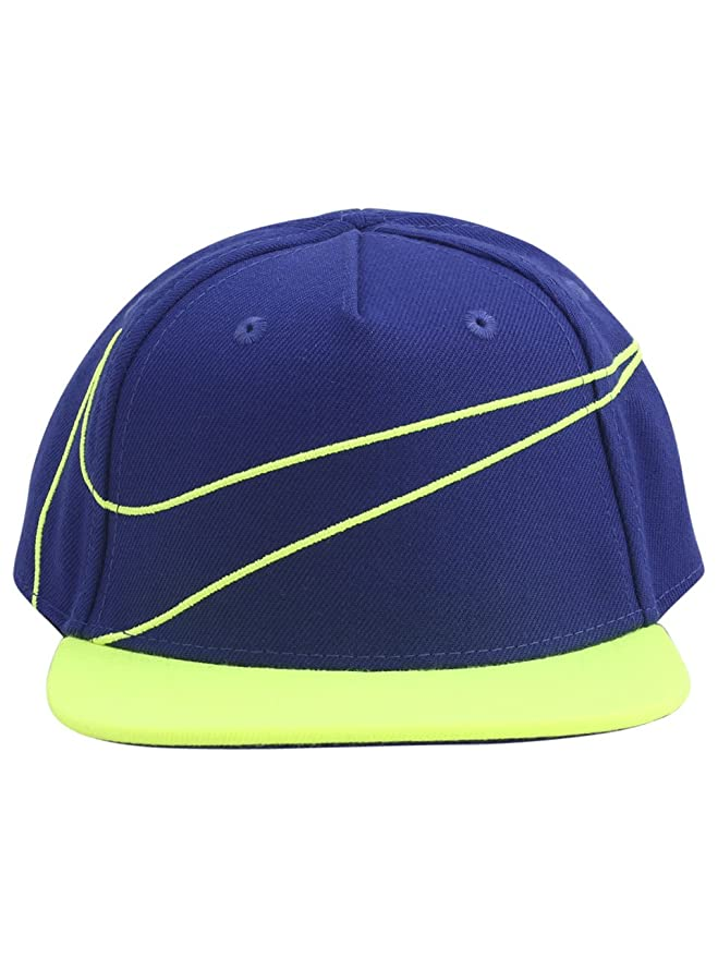 020e4b4b9e1 Nike Infant Swoosh Logo Dark Royal Snapback Baseball Cap Hat Sz  12 24  Months  Amazon.co.uk  Clothing