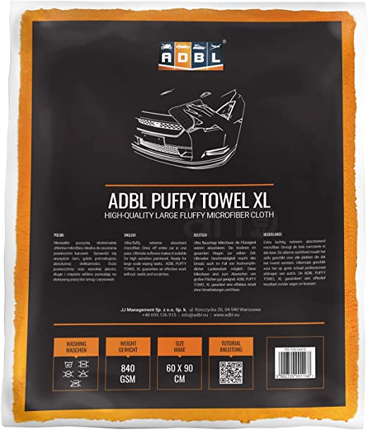 Adbl Puffy Towel Xl Premium Mikrofasertuch Polier Trockentuch 60x90cm 840 Gsm Auto