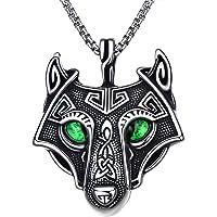BBBGEM Norse Viking Jewelry, Thor's Hammer/Celtic Knot/Celtic Wolf/Rune/Valknut/Tree of Life Necklace Titanium Steel…