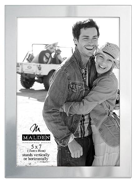 malden international designs essentials silver metal engravable picture frame 5x7 silver - Engravable Frames