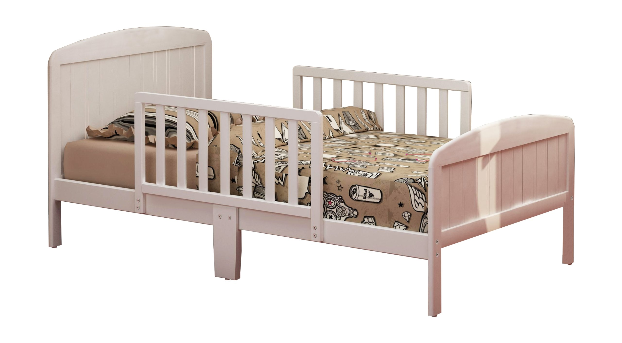 RUSSELL CHILDREN Products Harrisburg Wood Toddler Bed, Warm White by RUSSELL CHILDREN
