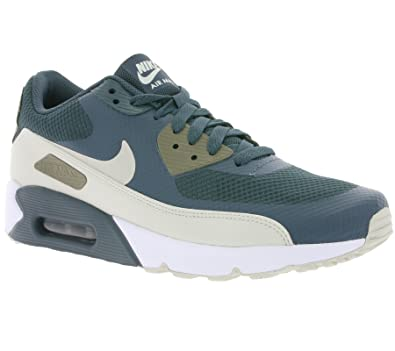 Nike AIR MAX 90 Ultra 2.0 Essential Mens Running Shoes 875695 401_10.5 Blue FoxLight Bone Dark Mushroom White