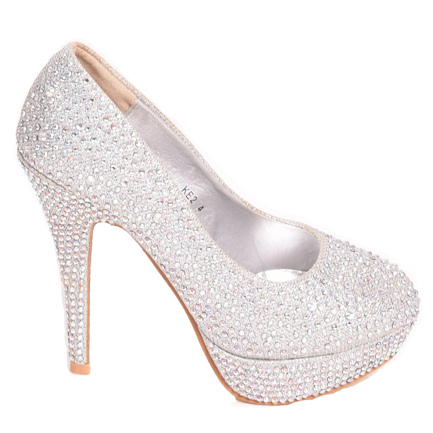 c44663f005b Solewish Ladies Womens Sparkly High Heel Evening Bridal Party Bridesmaid  Court Shoes Size  Amazon.co.uk  Shoes   Bags