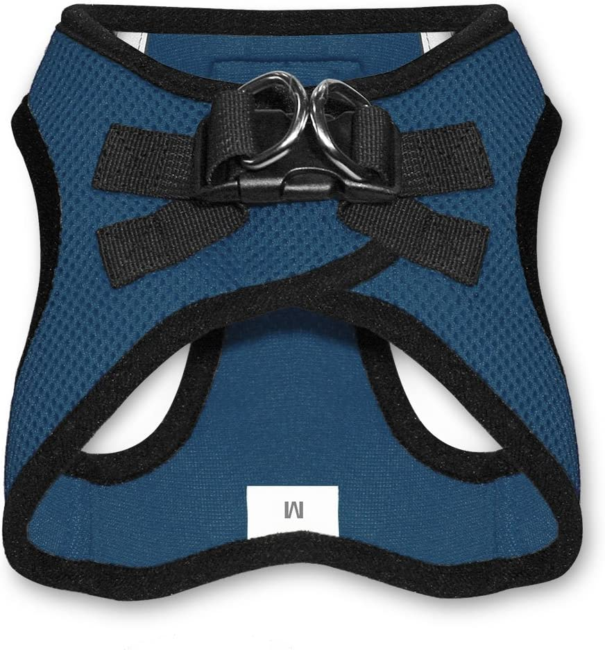 XXS Chest: 10.5-13 * Fit Cats Voyager Step-in Air Dog Harness Step in Vest Harness for Small and Medium Dogs by Best Pet Supplies Blue Base All Weather Mesh
