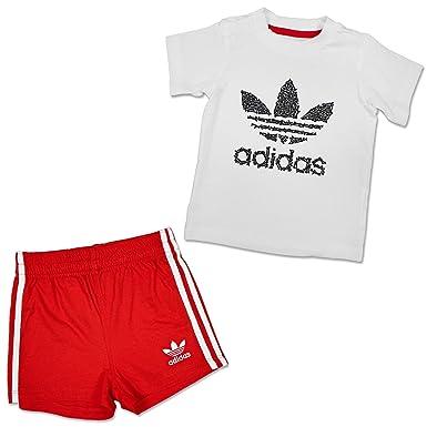Neueste Mode großer Rabatt noch nicht vulgär adidas Baby Kinder Sommer Trefoil Set Jungen Jogger Hose ...
