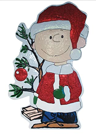 productworks 42 inch peanuts metal charlie brown with tree christmas decoration - Charlie Brown And Snoopy Christmas Decorations