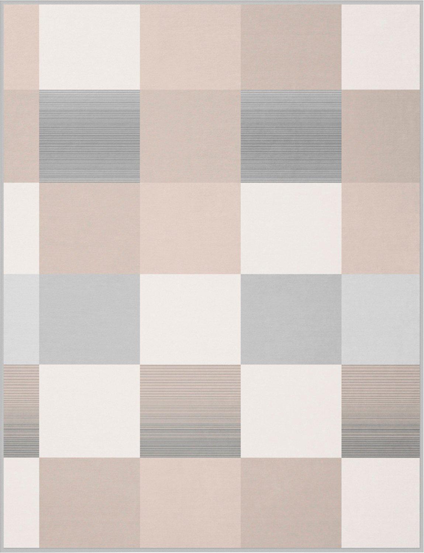 Biederlack Plaid Soft Impression   Ombré Ch.Silver - 180 x 220 cm