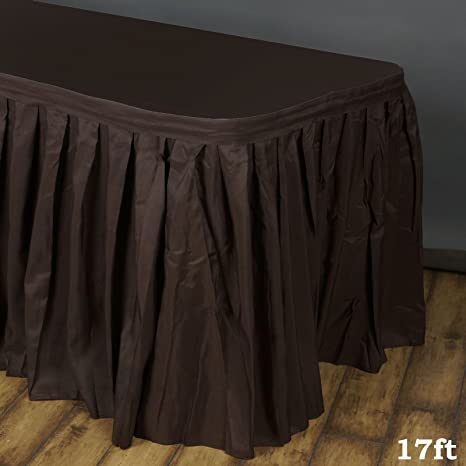 1c96c15ed Image Unavailable. Image not available for. Color: Efavormart 17ft Chocolate  Accordion Pleat Polyester Table Skirt ...