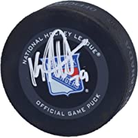 $59 » K'Andre Miller New York Rangers Autographed 2019 Model Official Game Puck - Autographed NHL Pucks