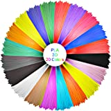 ELEGIANT 20 Stück Ink Filament PLA Filament 3D Stift Filament 1.75MM 10M 3D Print Filament 3D Printing Pen Supplies PLA Material 20 Farben Set für 3D Drucker Stift 3D Pen