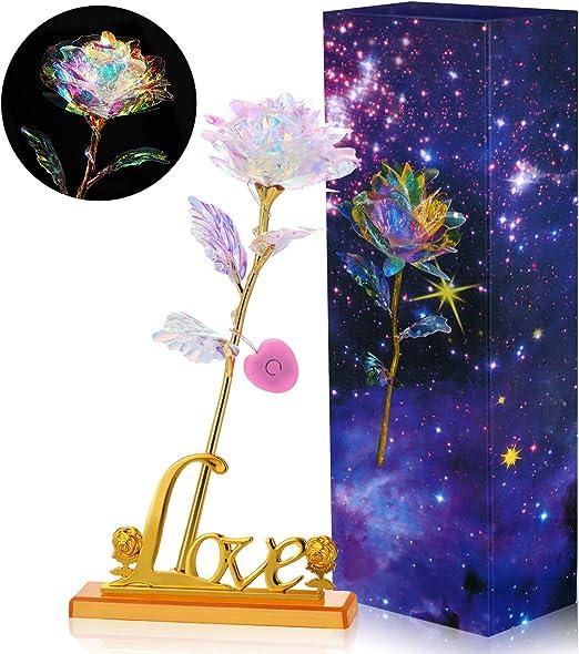 Amazon.com: Willbond - Flor de galaxia colorida con forma de ...