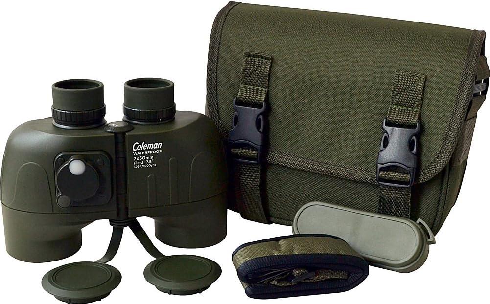 B00H90K19E Coleman CS750WPIF Signature 7x50 Waterproof Binoculars with Built-In Compass (Green) 71zjdCOANjL.SL1001_