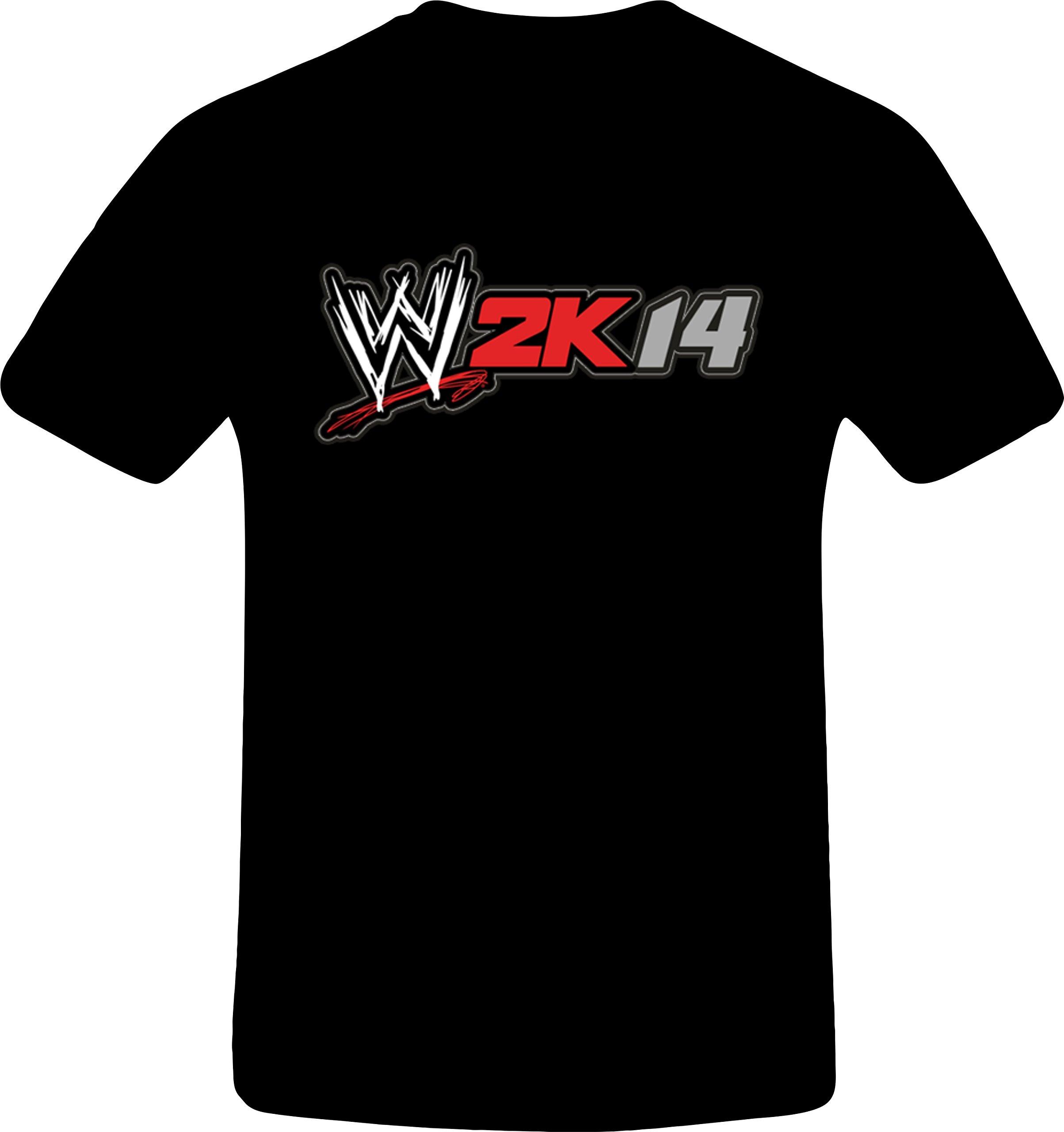 W 2K14 Wrestling - Best Quality Costum Tshirt (5XL, BLACK)