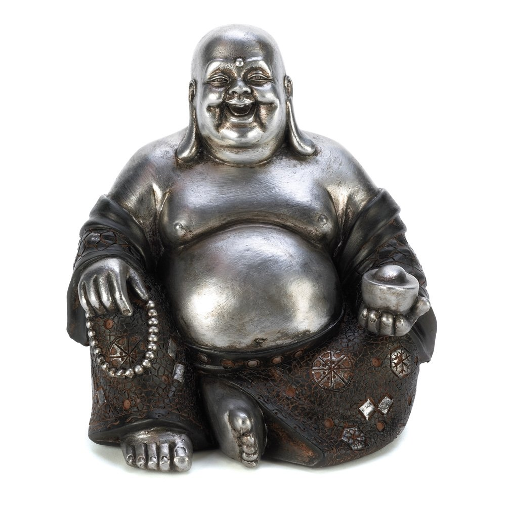 Happy Sitting Buddha Inspirational Religious Statue