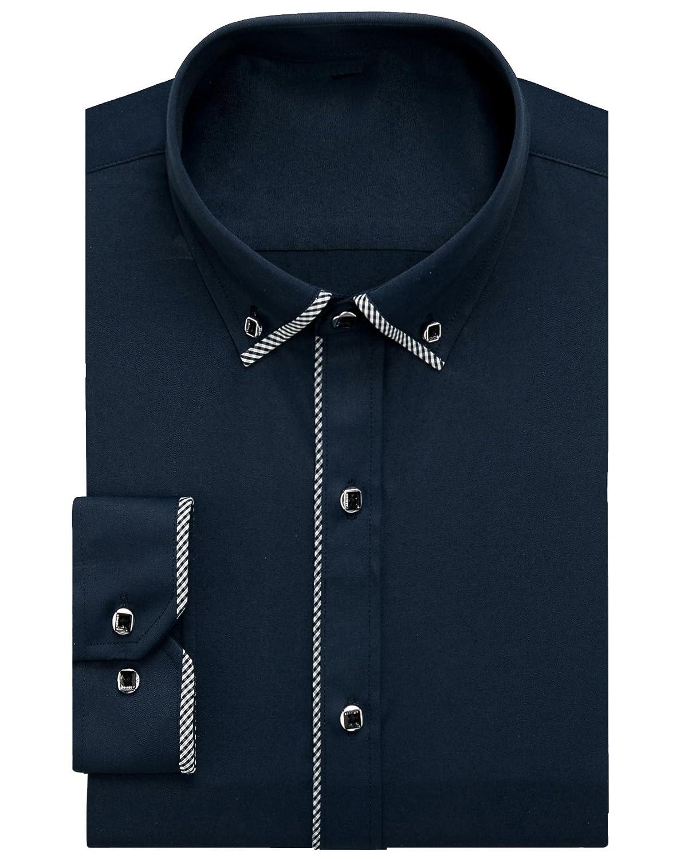 Alimens & Gentle Italy Stripe Edge Design Solid Color Regular Fit Long Sleeve ALM-M-DC-5-1901