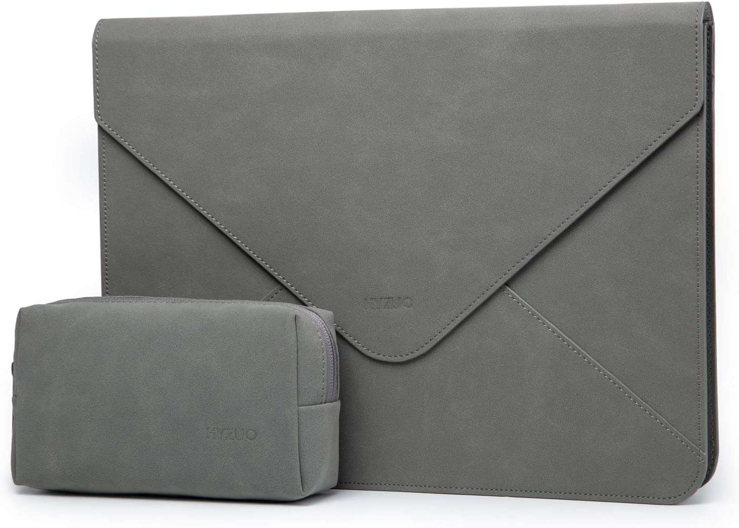 HYZUO 15-16 Inch Laptop Sleeve Protective Case Cover Compatible with 2019 New MacBook Pro 16 A2141/Dell XPS 15/Surface Laptop 4 3 15 Inch/MacBook Pro 15 2012-2019 with Small Bag, Dark Grey