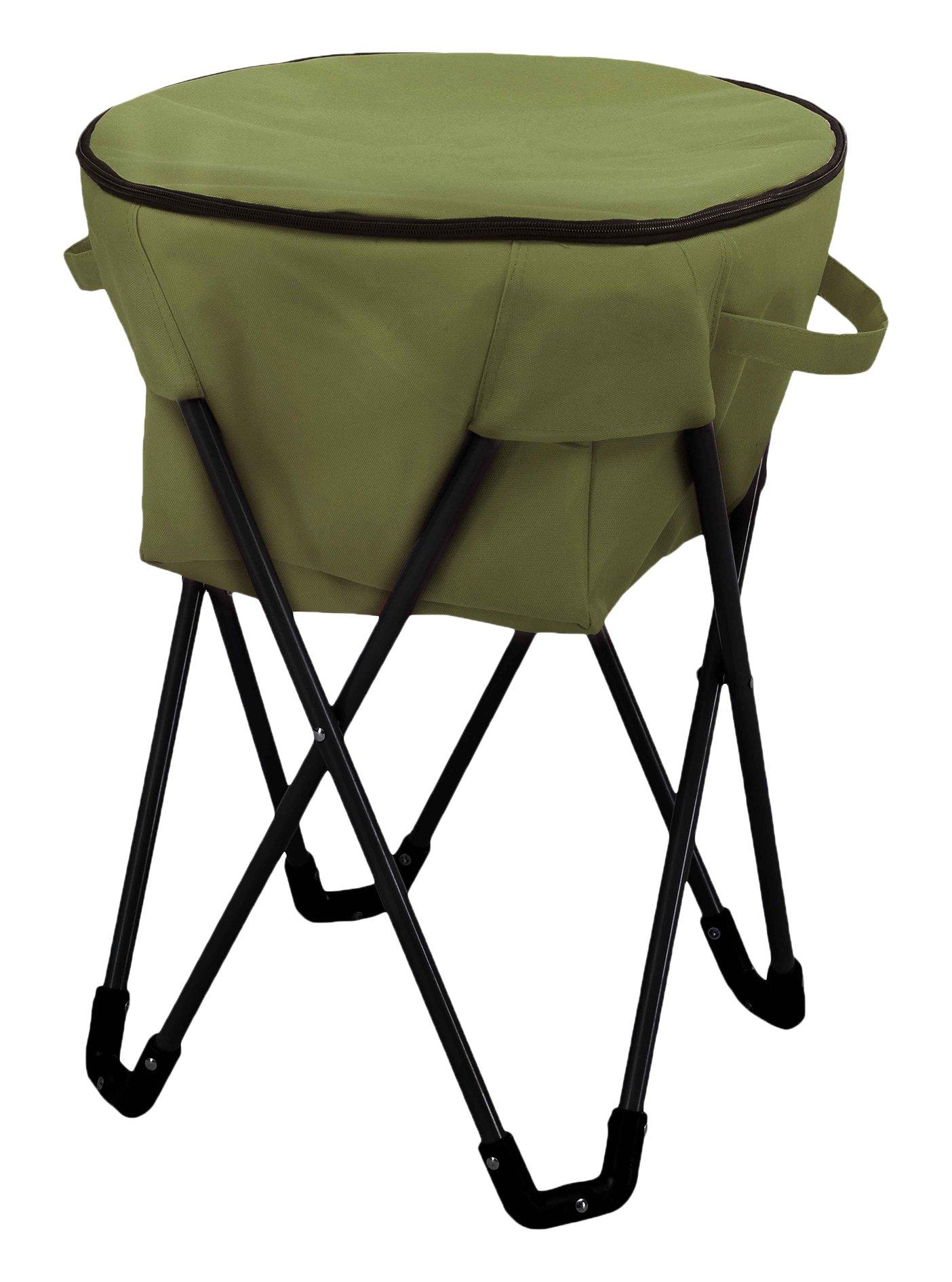 Sunjoy Folding Frame Outdoor Ice Cooler Bag, green