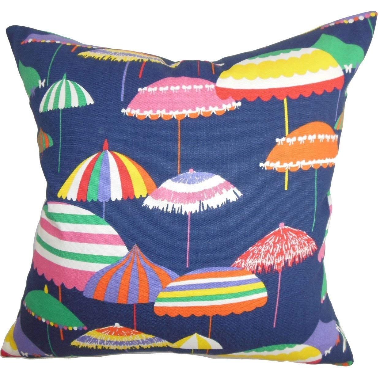 The Pillow Collection Yaffa Geometric Pillow, Blue