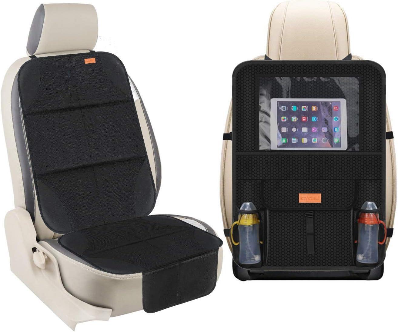 universal 2 unidades protectores de asiento de coche para beb/é o ni/ño Juego de protectores de asiento de coche para iPad y tableta resistente a las manchas organizador de asiento trasero