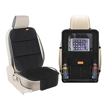 Car Seat Organizer Backseat Organizer Storage Car Organizer Back Seat Waterproof Kick Mat Car Seat Protector XBRN 2-Pack Kick Mats Seat Organizer