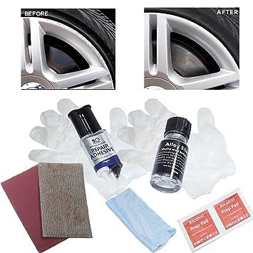 Kit para reparar golpes y abolladuras en llantas de aleación: Amazon.es: Coche y moto