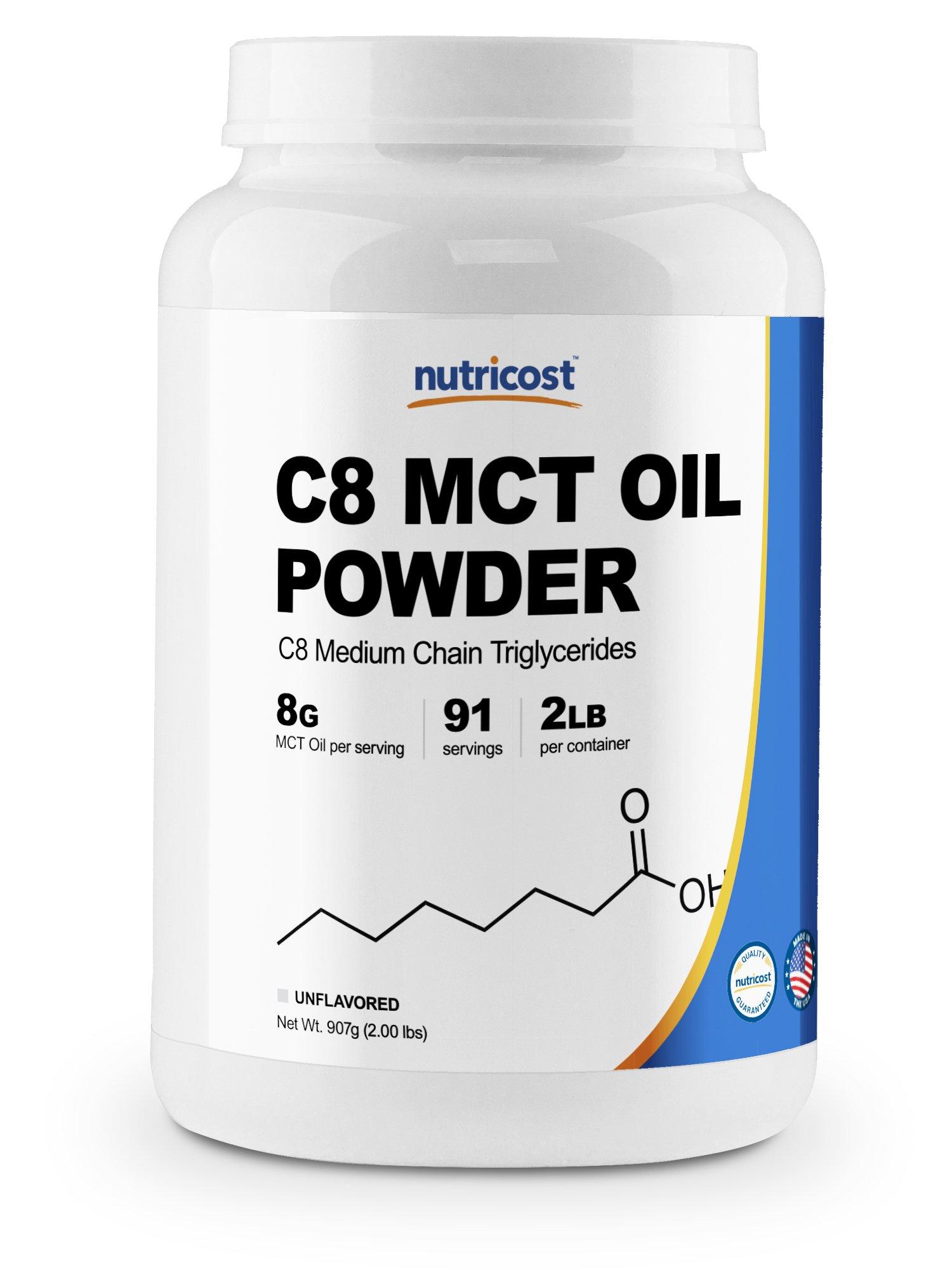Nutricost C8 MCT Oil Powder 2LBS (32oz) - 95% C8 MCT Oil Powder