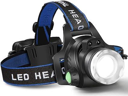 Recargable LED Lampara De Cabeza Luz De La Cabeza Linterna Para Pescar Camping