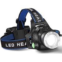 Headlamp Flashlight, USB Rechargeable Led Head Lamp,Waterproof T6 Headlight with 4 Modes and Adjustable Headband…