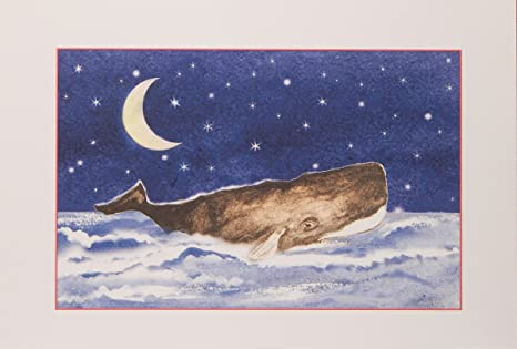 sperm whale boxed nautical christmas cards - Nautical Christmas Cards
