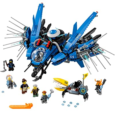 LEGO Ninjago Movie Lightning Jet 70614 Building Kit (876 Piece): Toys & Games