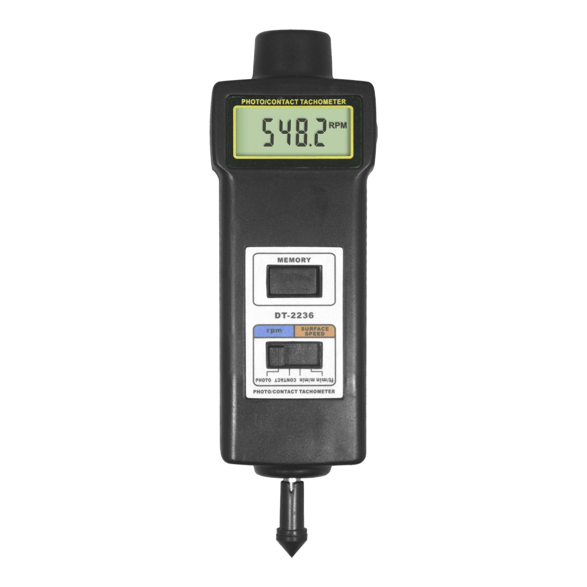 PerfectPrime TA0522 Contact//Non Contact Digital LCD Laser Photo Tachometer RPM Motor Speed Gauge 2 in 1