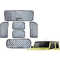 DFMY Fit for Jimny JB64W JB74W 6 PCS Sunshade Car Sunshade Shade (Color : Black Silver 6pcs)