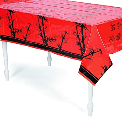 "Chinese New Year Tablecover, 54"" x 108"", Plastic: Toys & Games"