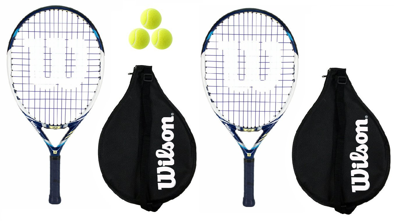 2 x + Wilson Rackets Juice 25 Junior Tennis Rackets by + 3 Tennis Balls RRP 90 by Wilson B00HDGMU02, STYLE COUNSEL:4de3969d --- cgt-tbc.fr