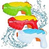 QUN FENG Wasserpistole Wasser Soaker Squirt Pistole für Wasser Kampf Super Soaker Wasserpistole für Kinder Heißer Sommer Spielzeug für Beach Pool Verschiedene Farbe 3-Pack