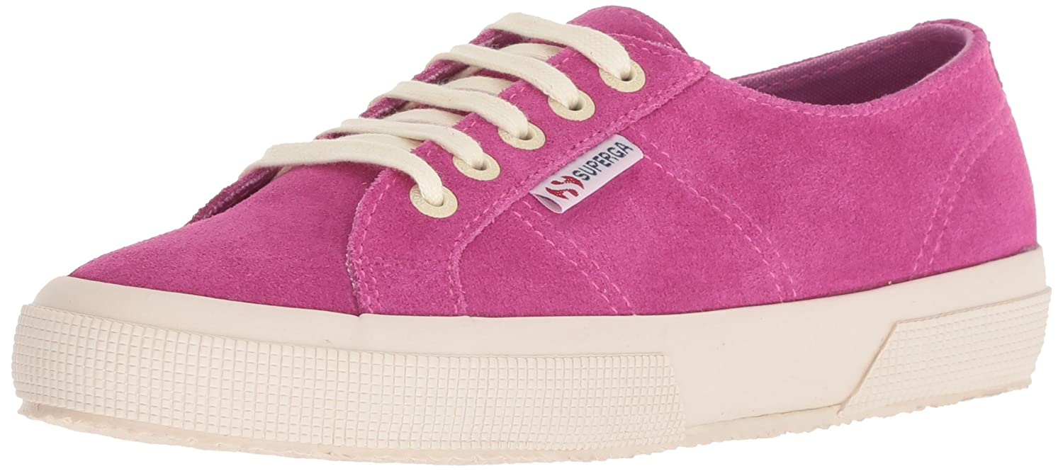 Superga Women's 2750 Suecotlinw Sneaker B077XL22F6 38 M EU (7.5 US)|Raspberry Suede