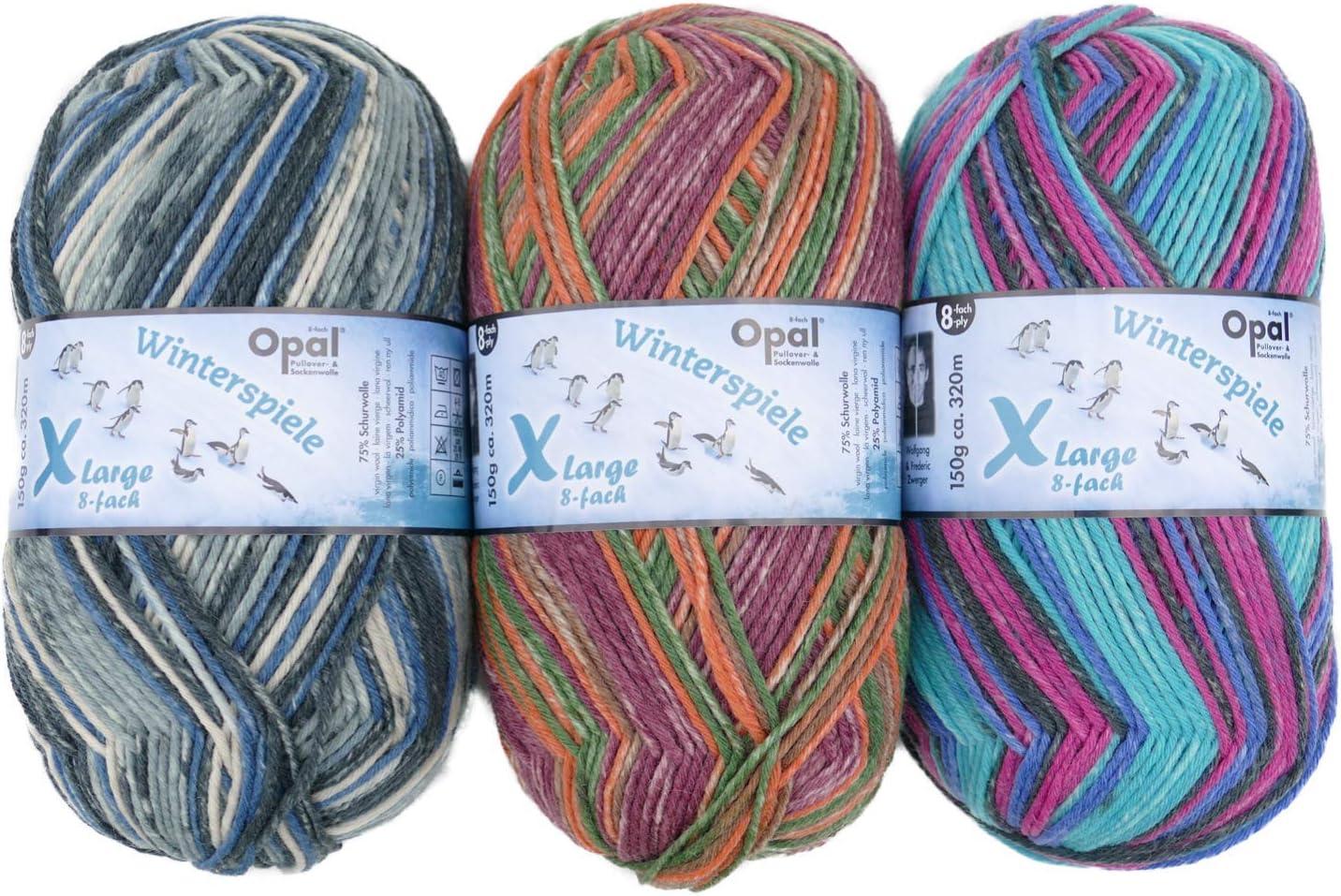 Opal Sockenwolle 150g XLarge Schneeglöckchen 7,50 EUR//100 g Schneepfad