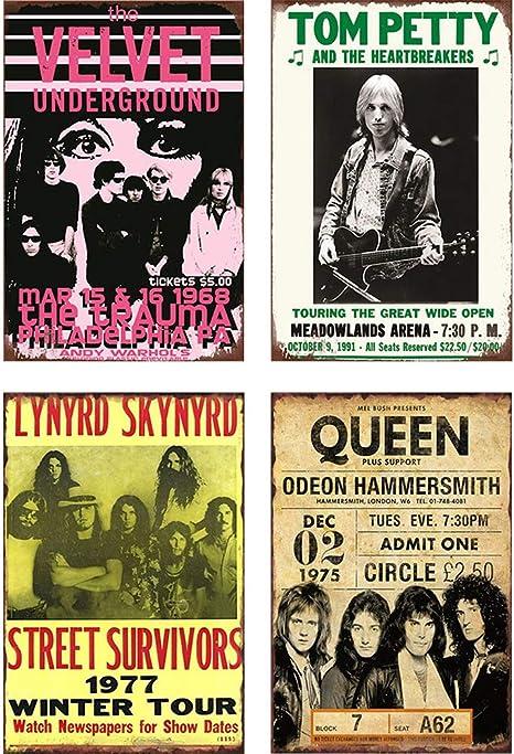 "1975 Queen Concert Hammersmith London Retro Classic Rock Metal Tin Sign 8/"" x 12/"""