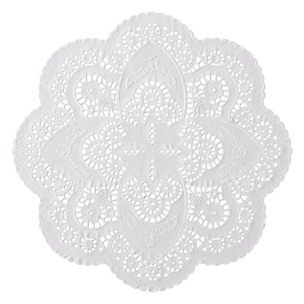 Hoffmaster 500535 French Lace Doily, 12'' Diameter (Case of 1000) by Hoffmaster