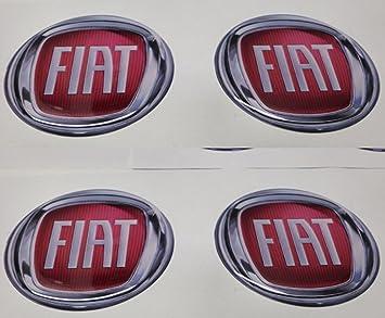 Adhesivos de resina para tapacubos Fiat, 60mm , calidad 3M, pegatinas para