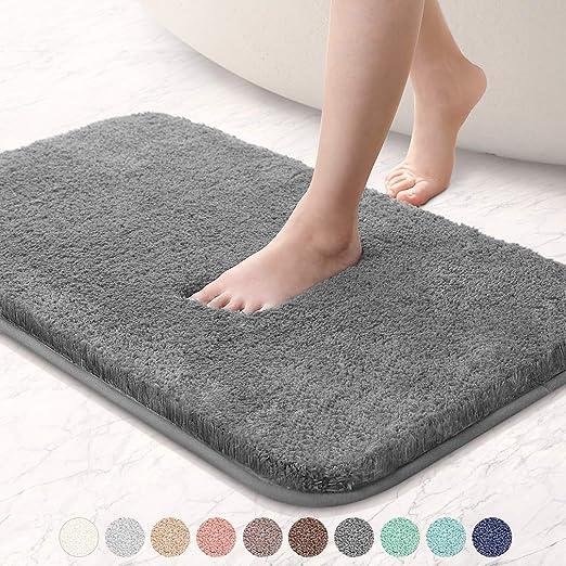 50 x 90 cm LiGG Memory Foam Bathroom Rug Non-Slip Bath Mat ...