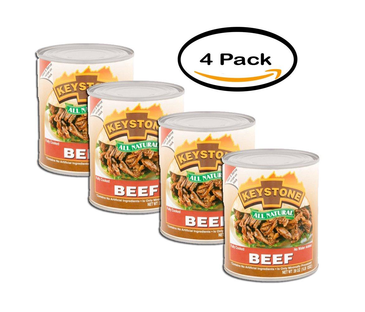 PACK OF 4 - Keystone Beef, 28 oz