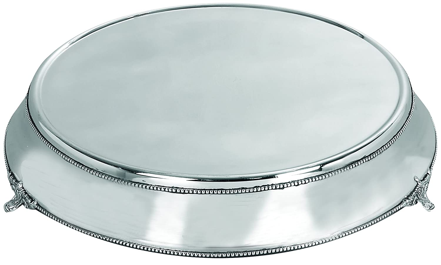 Deco 79 Stainless Steel Cake Plate with Silver Color by Deco 79   B002PLOL84