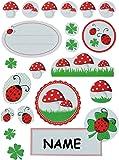 44 tlg. Set Aufkleber / Sticker - für Adventskalender